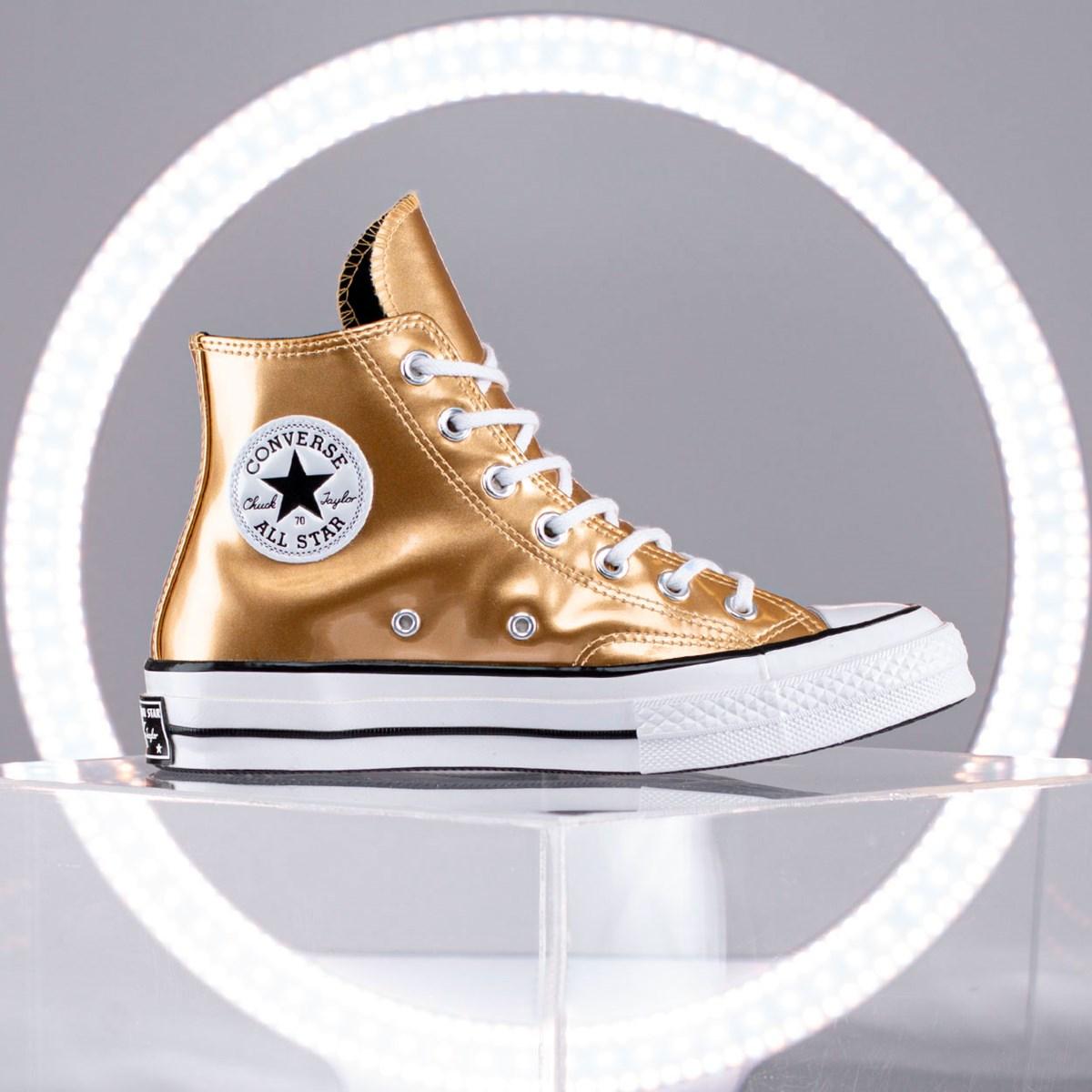 Tênis Converse Chuck 70 Industrial Glam Hi Gold Black 568797C Gold Black