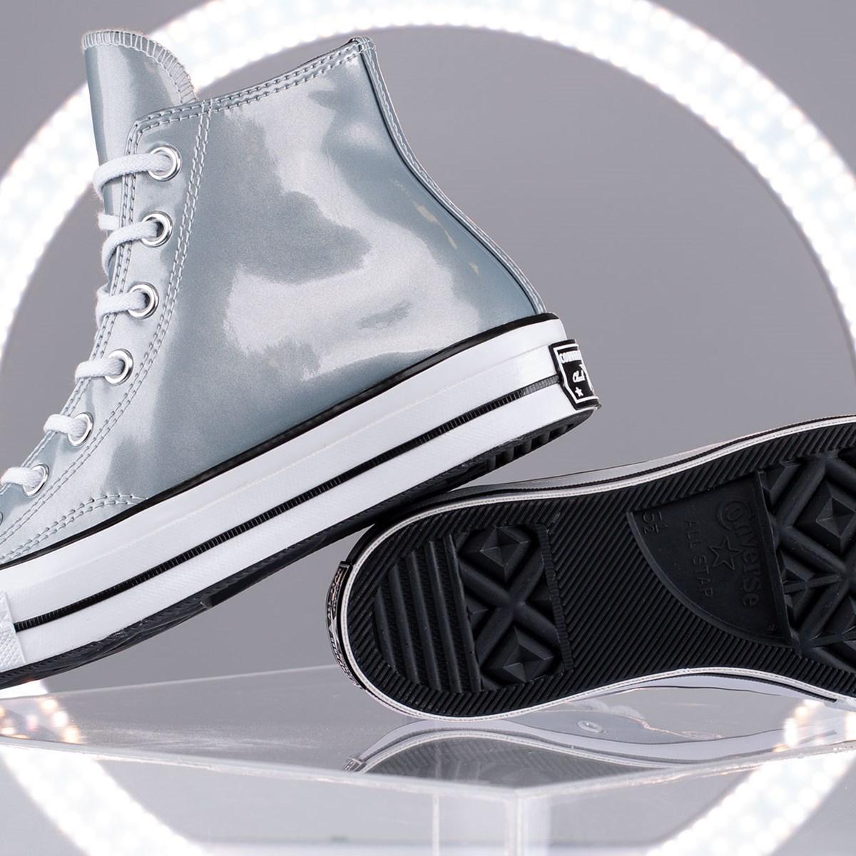 Tênis Converse Chuck 70 Industrial Glam Hi Silver Egret 568796C