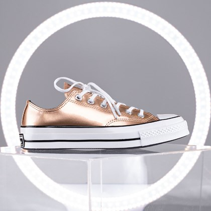 Tênis Converse Chuck 70 Industrial Glam Ox Rose Gold White 568799C
