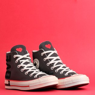 Tênis Converse Chuck 70 Love Fearlessly Hi Thunder Grey University Red 567153C