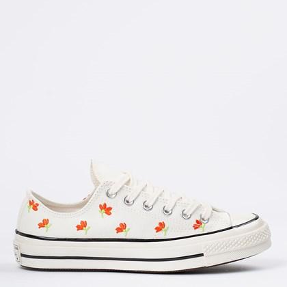 Tênis Converse Chuck 70 Ox Floral Embroidered Amendoa Preto CT16650002