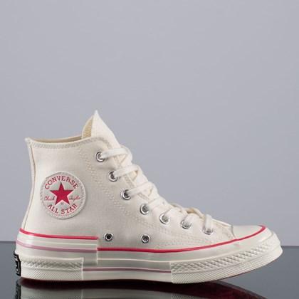 Tênis Converse Chuck 70 Popped Color Hi Egret Carmine Pink 568800C