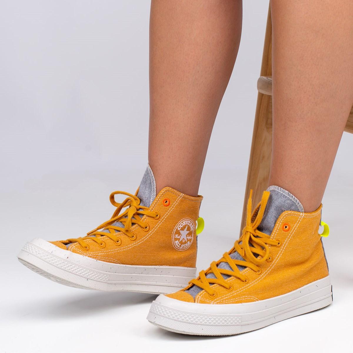 Tênis Converse Chuck 70 Renew Hi Saffron Yellow Lemon Venom 168615C