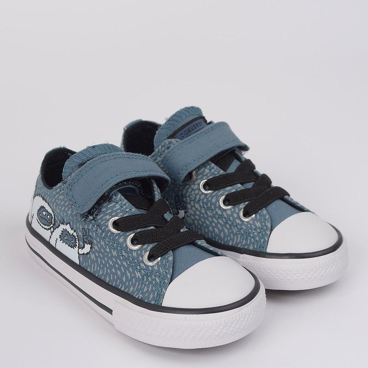 Tênis Converse Chuck Taylor All Star 1V Kids Lago Azul Branco CK08920001