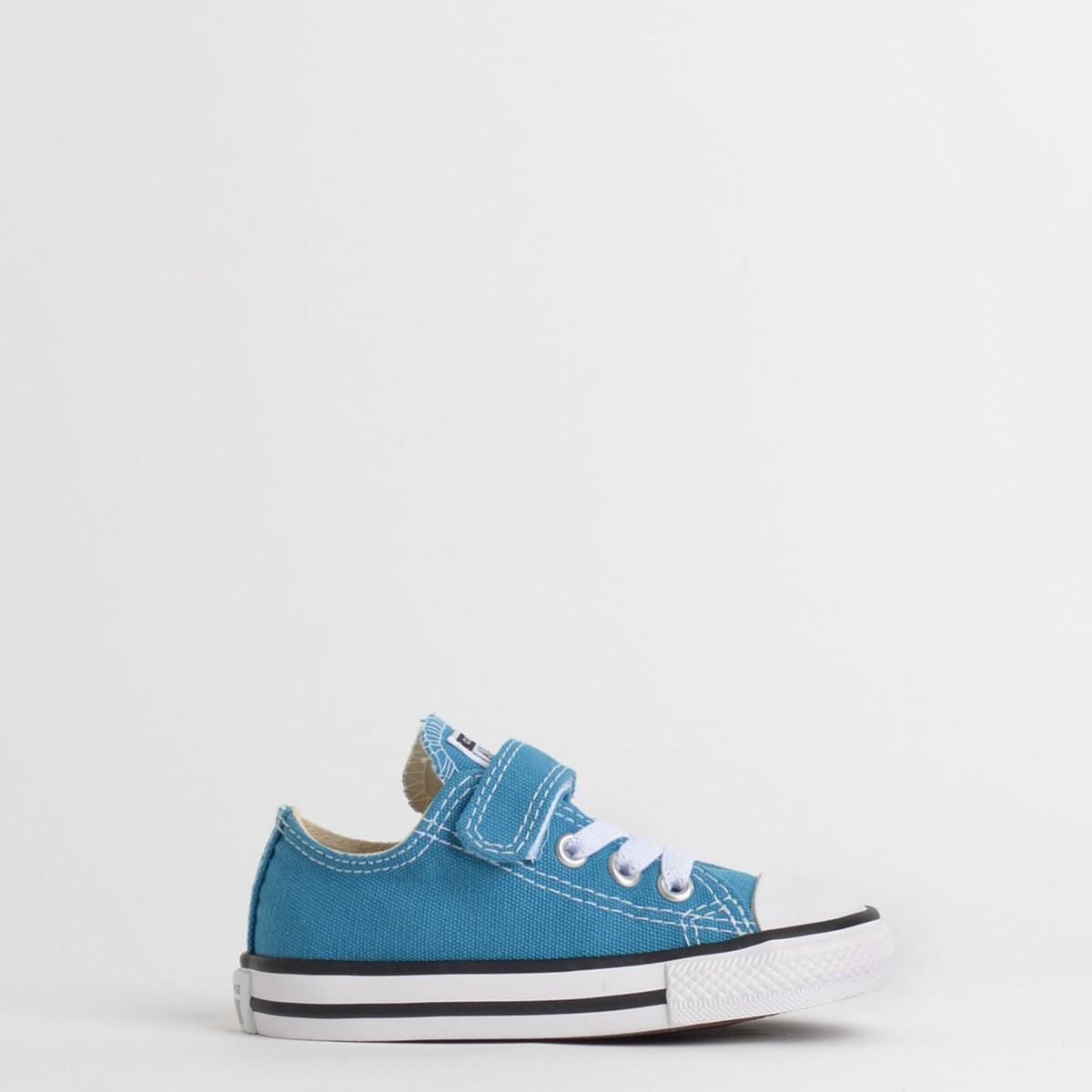 Tênis Converse Chuck Taylor All Star 1V Kids Ox Azul Acido CK08150002