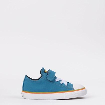 Tênis Converse Chuck Taylor All Star 1V Kids Ox Azul Musgo CK08560002