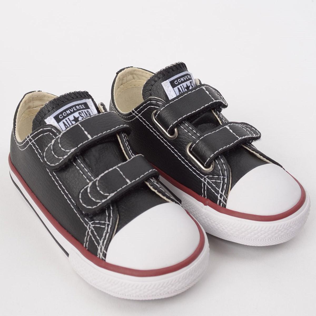 Tênis Converse Chuck Taylor All Star 2V Kids Preto Vermelho CK04180003