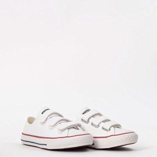 Tênis Converse Chuck Taylor All Star 3V Kids Branco Vermelho CK04190001