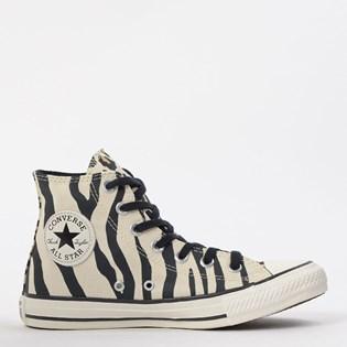 Tênis Converse Chuck Taylor All Star Animal Print Hi Bege Preto CT13600001