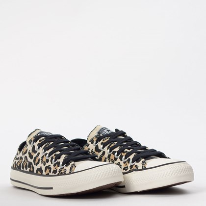 Tênis Converse Chuck Taylor All Star Animal Print Ox Bege Amendoa CT13080001