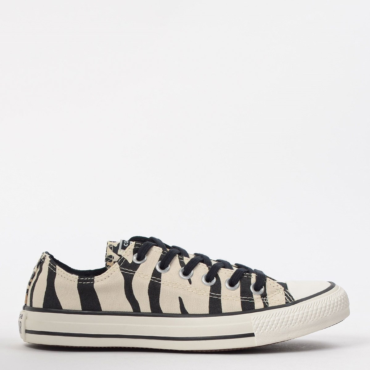 Tênis Converse Chuck Taylor All Star Animal Print Ox Bege Preto CT13610001