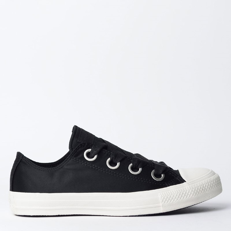 Tênis Converse Chuck Taylor All Star Big Eyelet Ox Preto Amendoa CT08610001
