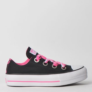 Tênis Converse Chuck Taylor All Star Big Eyelet Platform Lift Ox Preto CT11900001