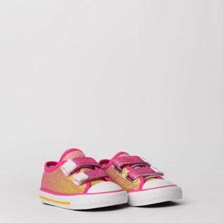 Tênis Converse Chuck Taylor All Star Border 2V Kids Pink Fluor CK07490001