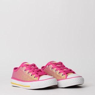 Tênis Converse Chuck Taylor All Star Border Kids Ox Pink Fluor CK07480001