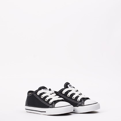 Tênis Converse Chuck Taylor All Star Border Kids Ox Preto CK05060002