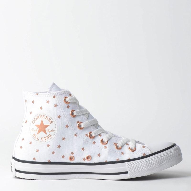 Tênis Converse Chuck Taylor All Star Branco Ouro Escuro CT11400001