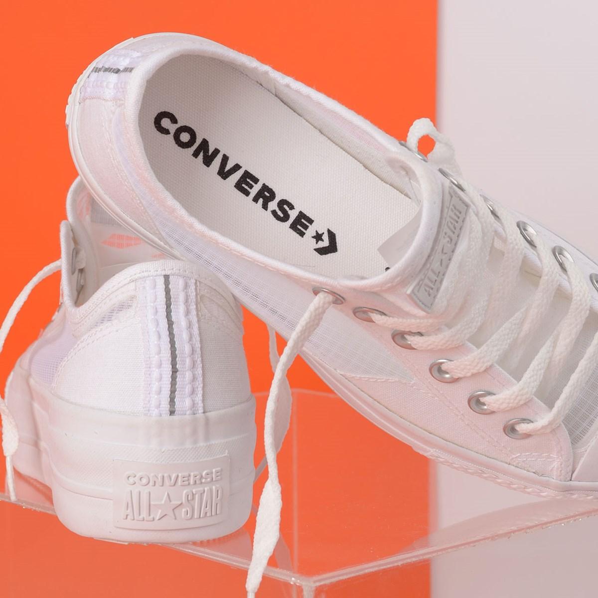 Tênis Converse Chuck Taylor All Star Breathe Platform Lift Ox Branco Branco CT14900001