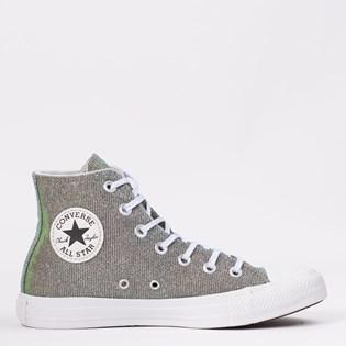 Tênis Converse Chuck Taylor All Star Ceu Prata Puro Branco CT12390001