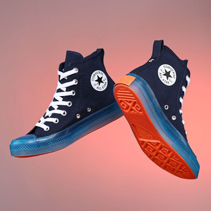 Tênis Converse Chuck Taylor All Star CX Canvas Color Hi Obsidian Sail Blue Wild Mango 168566C