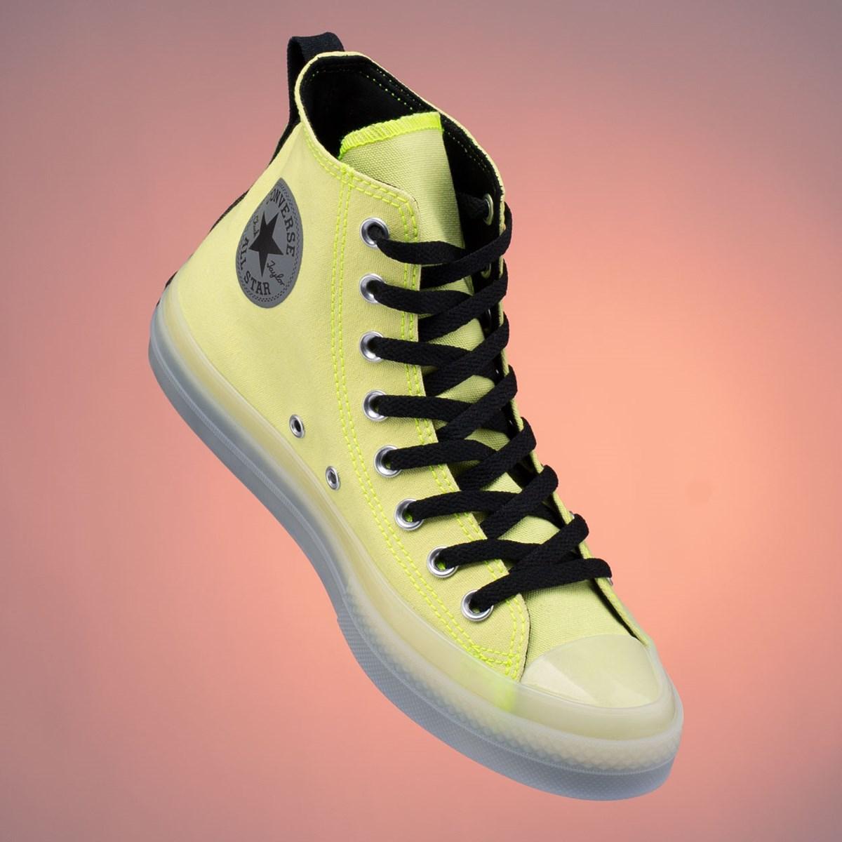 Tênis Converse Chuck Taylor All Star CX Hi VIS Lemon White Venom Black 169604C