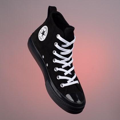Tênis Converse Chuck Taylor All Star CX Suede Color Hi Black Wild Mango 168587C