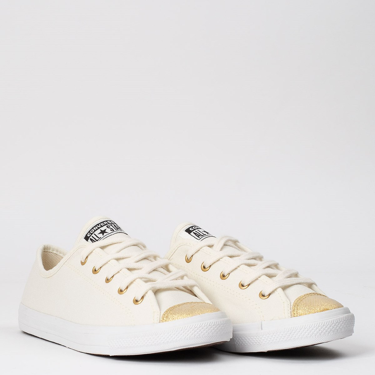 Tênis Converse Chuck Taylor All Star Dainty Ox Bege Claro Ouro CT14970002