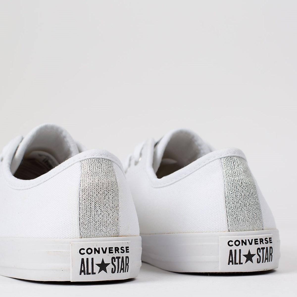 Tênis Converse Chuck Taylor All Star Dainty Ox Branco Prata Puro CT14970001