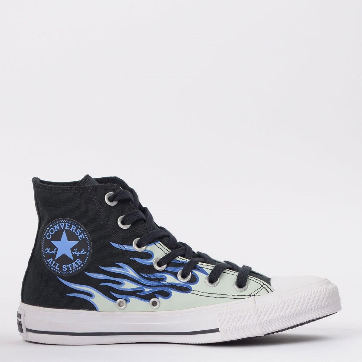 Tênis Converse Chuck Taylor All Star Flame Hi Preto Azul CT15130001