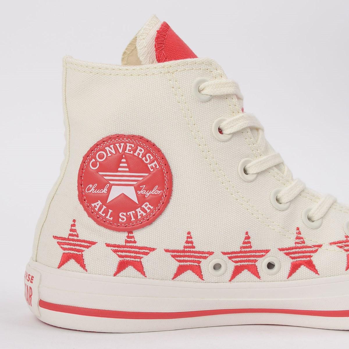 Tênis Converse Chuck Taylor All Star Hi Amendoa Vermelho CT14770002