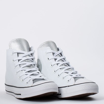 Tênis Converse Chuck Taylor All Star Hi Anodized Metals Branco Prata Puro CT16170002 Branco Prata