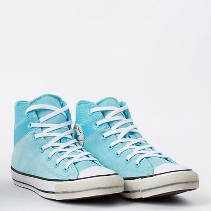 Tênis Converse Chuck Taylor All Star Hi Azul Claro Preto CT16050002