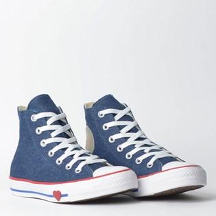 ... Tênis Converse Chuck Taylor All Star Hi Azul Vermelho CT09880001 a01cf534ccf8d