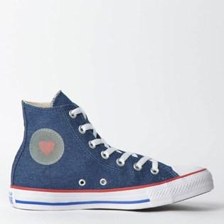 Tênis Converse Chuck Taylor All Star Hi Azul Vermelho CT09880001