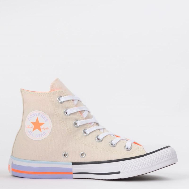 Tênis Converse Chuck Taylor All Star Hi Bege Claro CT14310002