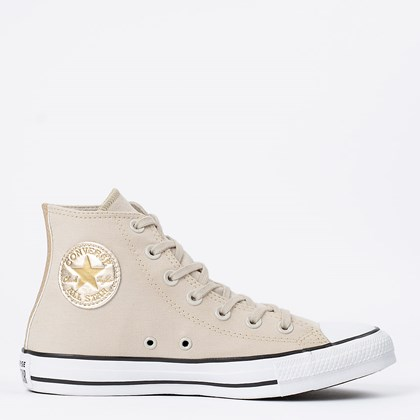 Tênis Converse Chuck Taylor All Star Hi Bege Claro Ouro Claro CT17290001