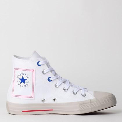 Tênis Converse Chuck Taylor All Star Hi Branco Azul CT12270001