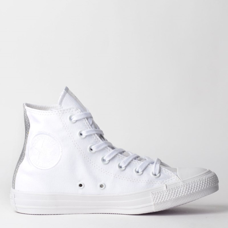 Tênis Converse Chuck Taylor All Star Hi Branco Iridescente CT12770002