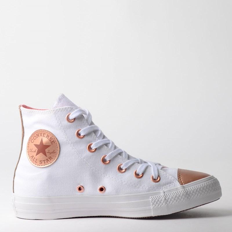 Tênis Converse Chuck Taylor All Star Hi Branco Ouro Escuro CT12640002
