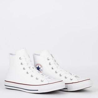 Tênis Converse Chuck Taylor All Star Hi Branco Vermelho CT04510001