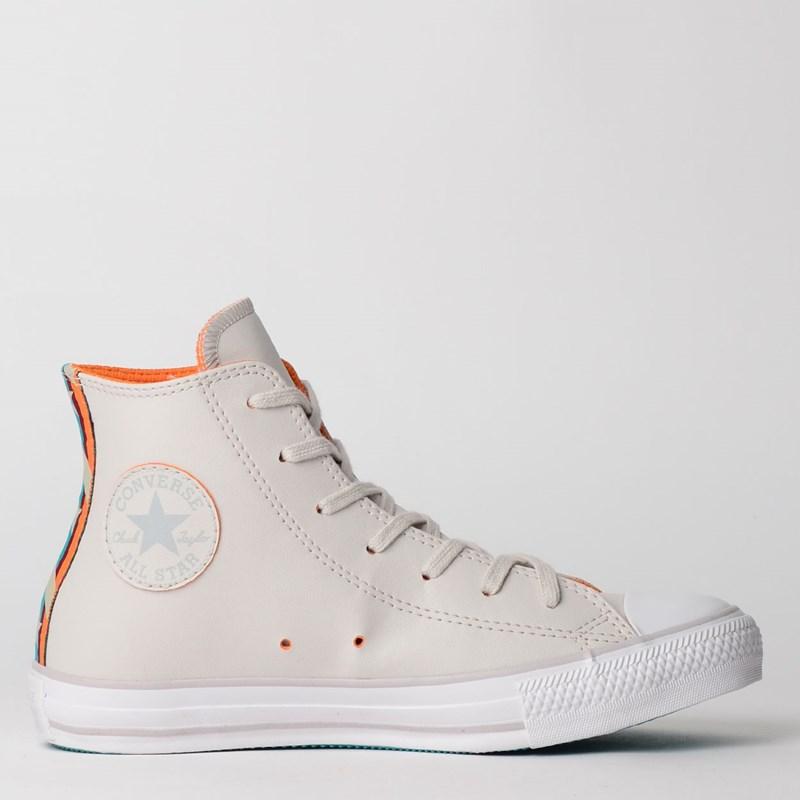Tênis Converse Chuck Taylor All Star Hi Cinza Palido CT12150002