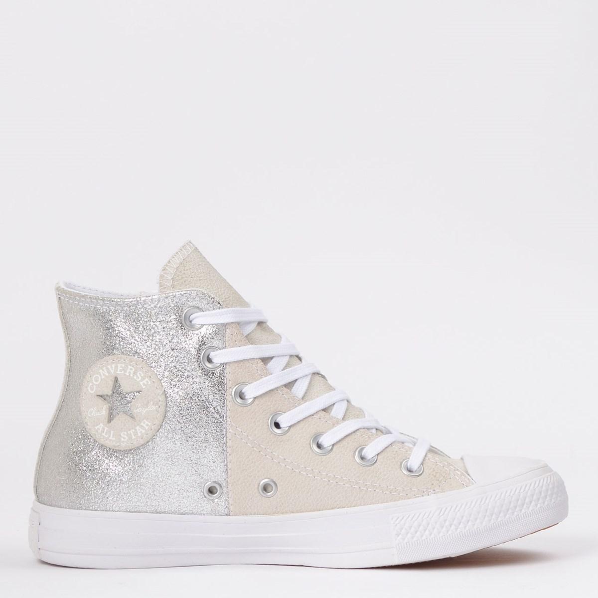 Tênis Converse Chuck Taylor All Star Hi Cinza Palido CT14590001