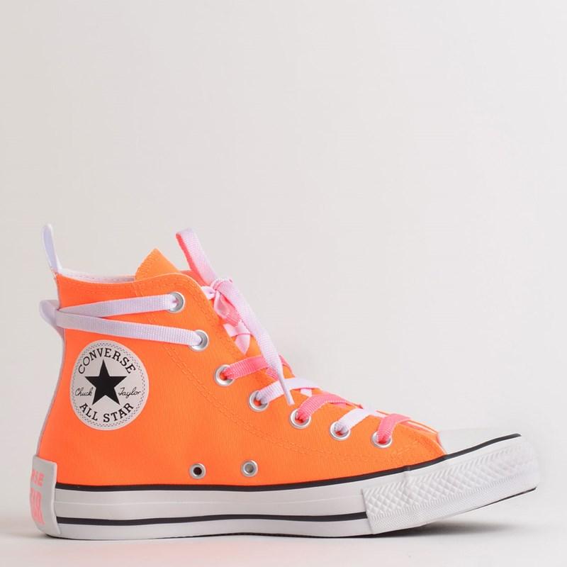 Tênis Converse Chuck Taylor All Star Hi Laranja Fluor CT13320002