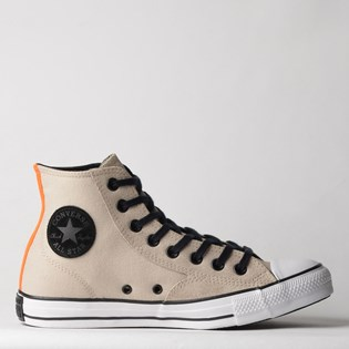 Tênis Converse Chuck Taylor All Star Hi Marfim Laranja Vivo Branco CT12820002