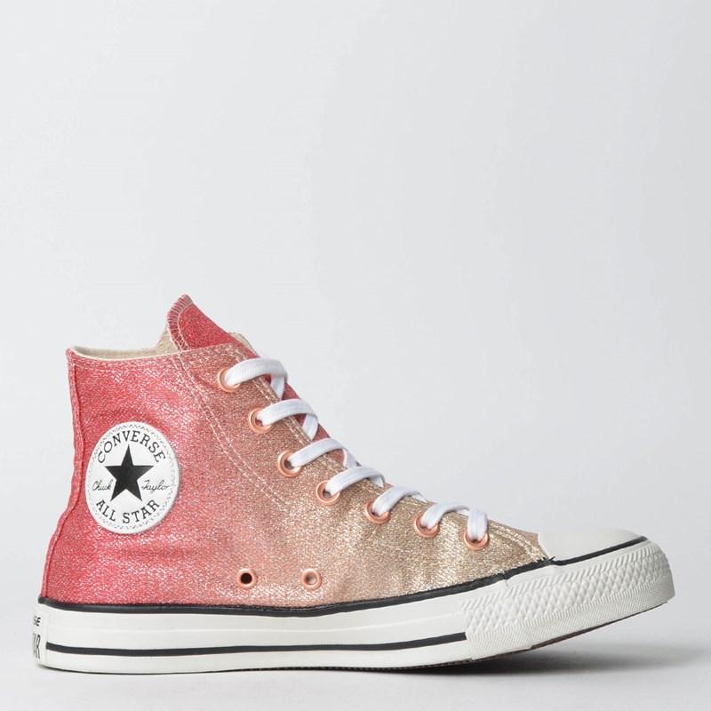 Tênis Converse Chuck Taylor All Star Hi Ouro Claro CT08550001