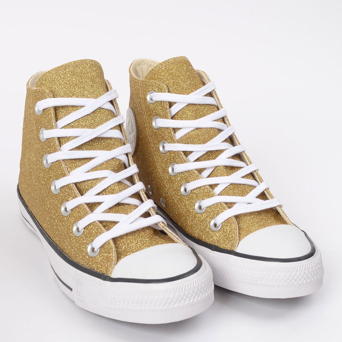 Tênis Converse Chuck Taylor All Star Hi Ouro Glitter CT14620002
