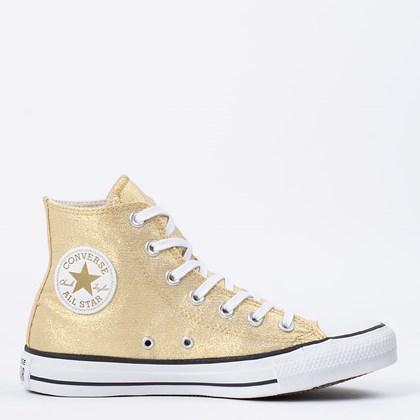 Tênis Converse Chuck Taylor All Star Hi Ouro Preto CT14620002