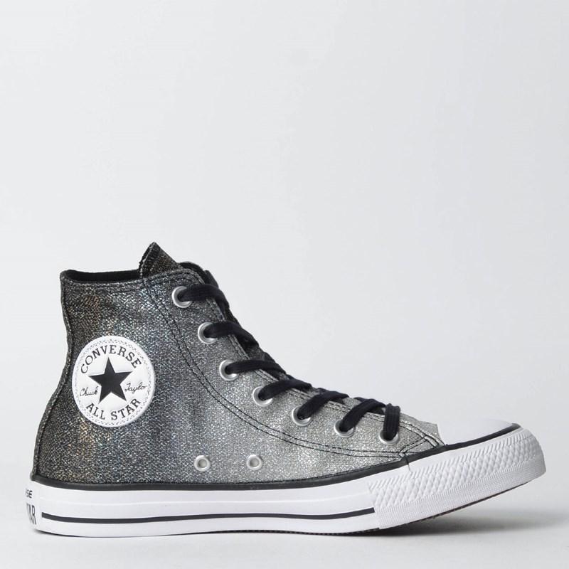 96a3ec24ec531 Tênis Converse Chuck Taylor All Star Hi Prata Puro CT08550002 - Loja ...