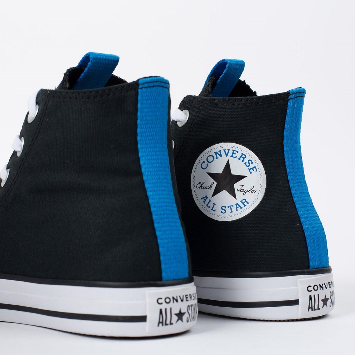 Tênis Converse Chuck Taylor All Star Hi Preto Azul Digital CT15640001