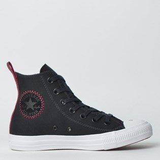 Tênis Converse Chuck Taylor All Star Hi Preto Bordo CT12580002